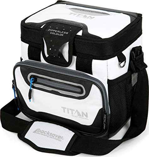 Arctic Zone Titan Deep Freeze 9 Can Zipperless Cooler, White - Large Lunch Box