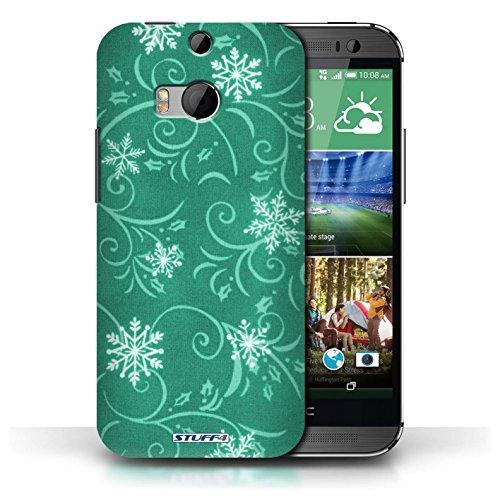 pour HTC One/1 M8 / Turquoise conception / Collection de Motif flocon de neige