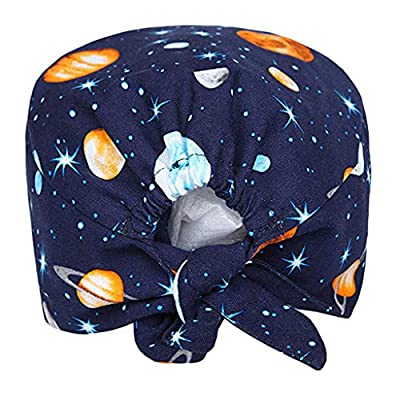 KYLEON Surgical Caps Scrub Hat Medical Bouffant Cap Sweatband Elastic Head Covers Headwear for Women Men Nurse Doctor: Clothing