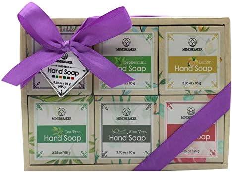 Sistema hecho a mano del regalo de la barra del jabón del aceite esencial, ingredientes orgánicos naturales (6 PCS): Amazon.es: Belleza