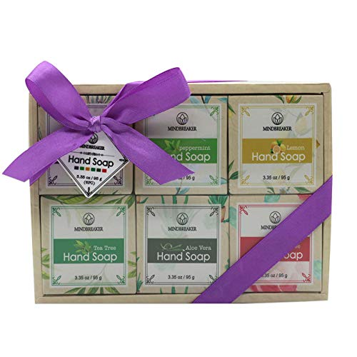 Essential Oil Handmade Soap Bar Gift Set,Natural Organic Ingredients (6 PCS)