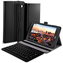 LG G Pad IV 8.0 FHD/LG G Pad X2 8.0 Case with Keyboard - High Quality Leather Slim-Front Prop Stand Cover Case with Bluetooth Keyboard-for LG G Pad IV 8.0 FHD/LG G Pad X2 8.0 tablet (Black)