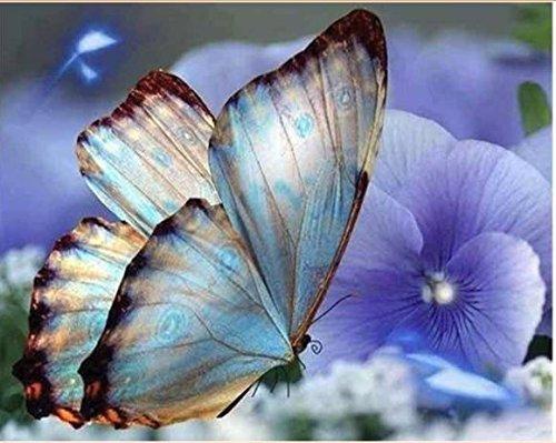 kit mosaico mariposa purpura ideal piedras cuentas de cristal puzzle cristales multicolor NOVEDAD 2018 manualidades relax, terapias relajantes. antistress regalo de 40 x 50 cm. de OPEN BUY