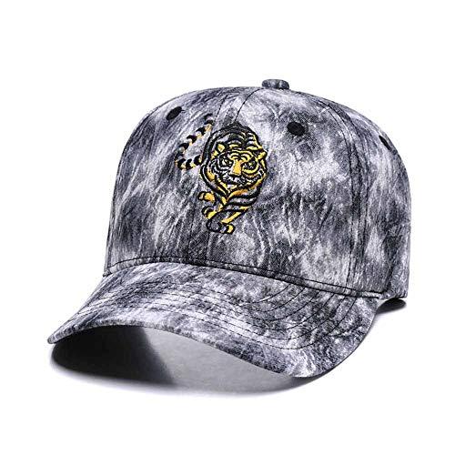 3D Tiger Embroidered Baseball Cap Men Women Cute Adjustable Cotton New Graffiti Dad Hat - Embroidered Visor Tiger