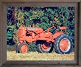 "1948 Allis Chalmers ""C"" Vintage Farm Tractor Wall Decor Barnwood Framed Picture Art Print (19x23)"