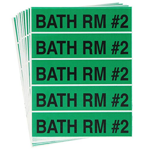 Tag-A-Room Color Coded Moving Box Labels (Bath Room #2)