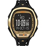 iron man targets - Timex Unisex TW5M05900 Ironman Sleek 150 Tapscreen Full-Size Black/Gold-Tone Resin Strap Watch