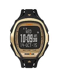 Timex Unisex TW5M05900 Ironman Sleek 150 Tapscreen Full-Size Black/Gold-Tone Resin Strap Watch