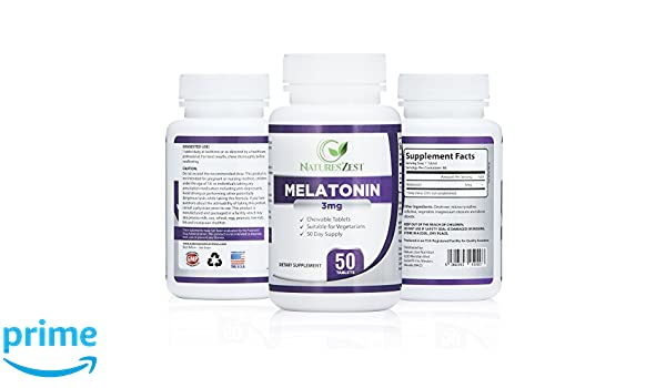 Amazon.com: Melatonin 3mg (50 Capsules) – Sleep Aid Supplement, Regulates Sleep/Wake Cycles, Relaxing and Calming, Stress and Anxiety Relief, Jet Lag ...