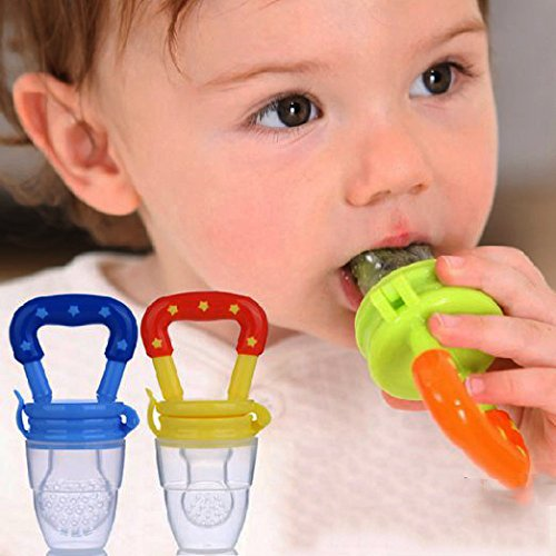 T Pain Halloween Costumes (Silicone Baby Food Bottle Spoon Feeder for Baby Toddler Infant Food With Silicone Baby Fruit Feeder Pacifier (2 Pack) - Fresh Food Nibbler, Infant Food/Fruit Teething Toy, Silicone Pouches for Toddler)