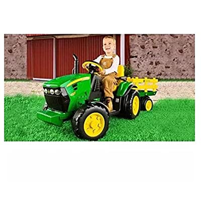 Peg Perego John Deere Ground Force Tractor with Trailer | Popular Toys