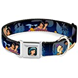 Disney Dog Collar DYR-Jasmine CLOSE-UP Full Color - Aladdin & Jasmine Scenes - Pet Collar