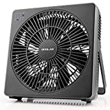 #5: OPOLAR 8 Inch Desk Fan(Included Adapter), USB Operated, 4 Speeds+Natural Wind, Timer, Quiet Operation, Seven Blades, Adjustable Angle, Desktop Personal Cooling Box Fan for Office, Living Room, Bedroom