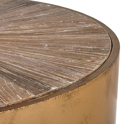 Stone & Beam Hillside Antiqued Coffee Table, 39.4'' D, Wood and Bronze by Stone & Beam (Image #5)