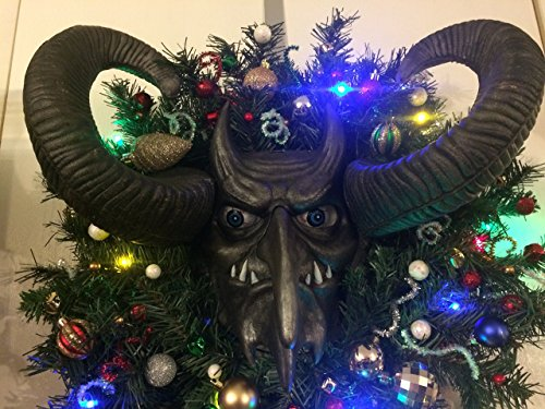 Krampus, Krampus Wreath, Free Shipping, Krampus Mask, Christmas Wreath