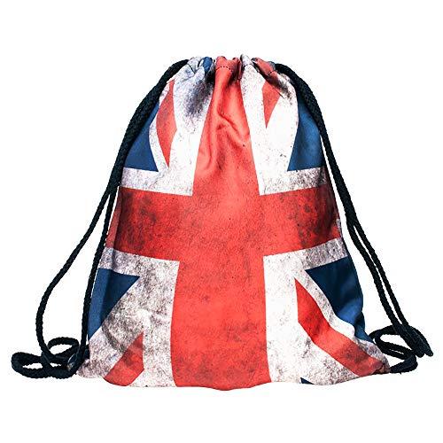 National Flag Drawstring Bags Backpack Sports Equipment Bag Travel Daypack Gym Bags Waterproof Backpacks for Men & Women (UK)