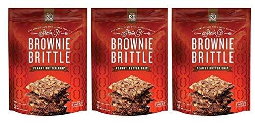 Sheila G's Brownie Brittle Peanut Butter Chip - Pack of 3 (5 (Sweet Peanut Brittle)