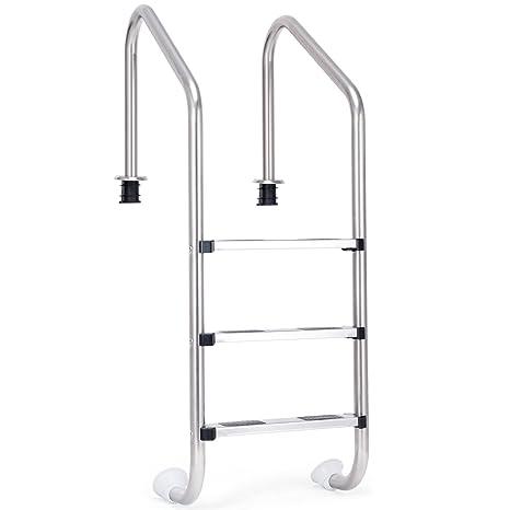 Amazon.com: Goplus piscina escalera para piscinas de en ...