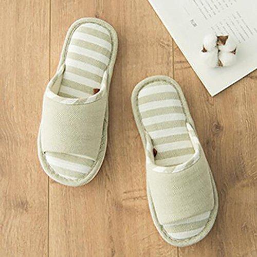Couple Slippers 39 Slip 38 Flip Green Summer Bottom 250Cm Flops Green Non Stripe Soft Household Indoor gSwdwq