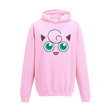 c40d21aa SMARTYPANTS Jigglypuff Pokemon face Inspired Hoodie Pink S-XXL:  Amazon.co.uk: Clothing