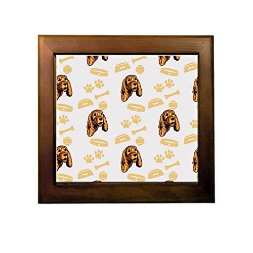 60%OFF English Cocker Spaniel Dog Bone Bowl Collar Ceramic Tile Backsplash Accent Mural