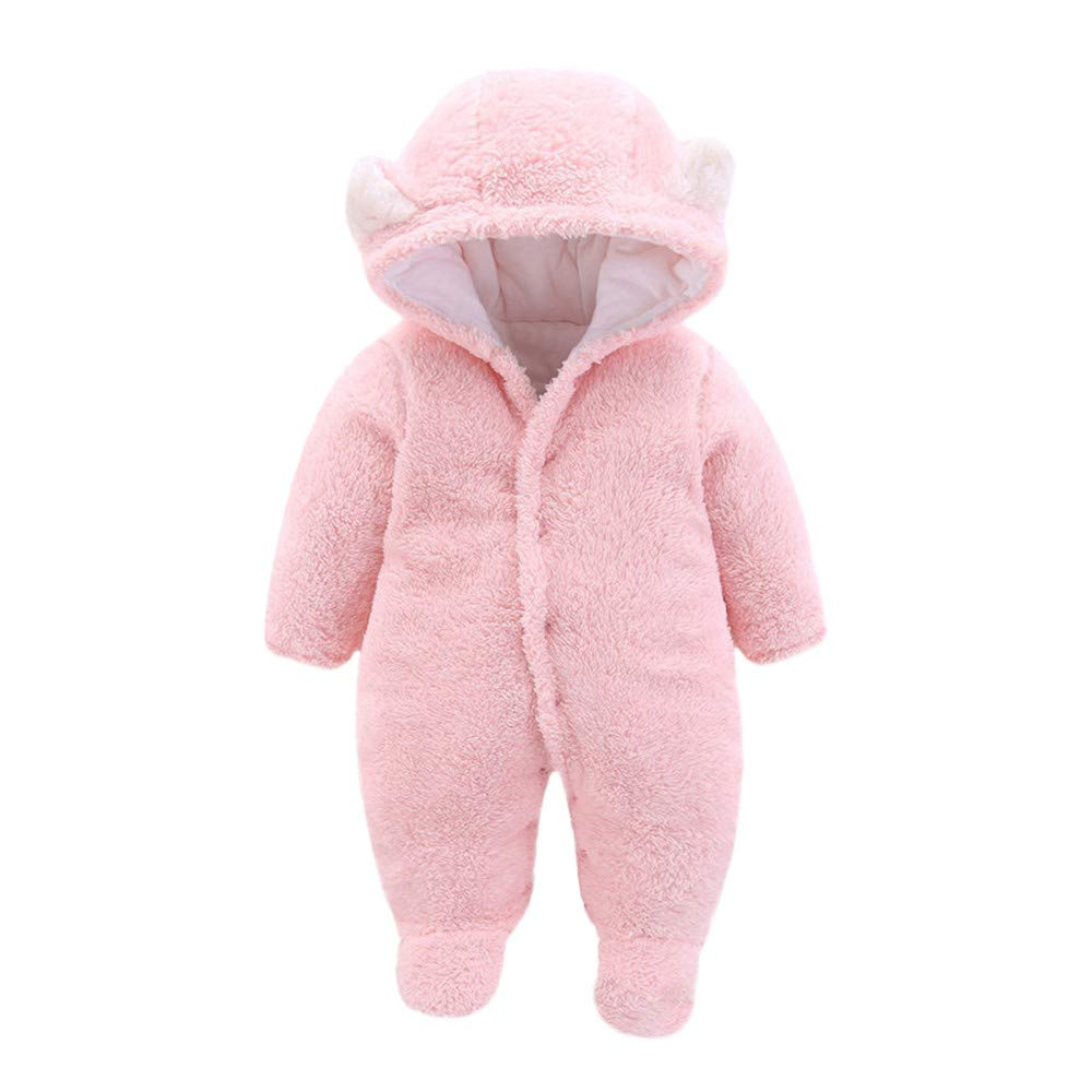 Amazon.com: WUAI Newborn Baby Boy Girl Hoodie Fleece Pram Snowsuit ...