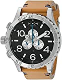 Nixon Men's '51-30 Chrono' Quartz Leather Watch, Color:Beige (Model: A1242299-00)