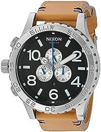 Nixon Men's '51-30 Chrono' Quartz Leather Automatic Watch, Color:Beige (Model: A1242299-00)