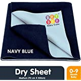 Bey Bee Waterproof Bed Protector Baby Dry Sheet, Medium, Dark Blue