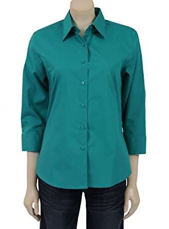 b60b4182 Image Unavailable. Image not available for. Color: Foxcroft 3/4 Sleeve  Shaped ...