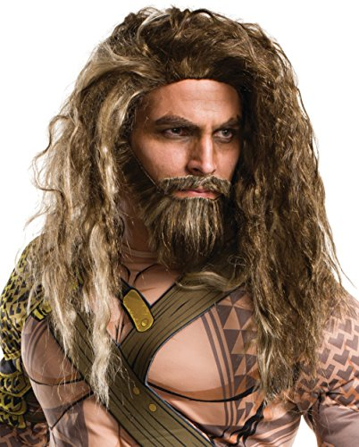 Rubie's Costume Co. Men's Batman V Superman: Dawn of Justice Aquaman Beard and Wig, As Shown, One Size
