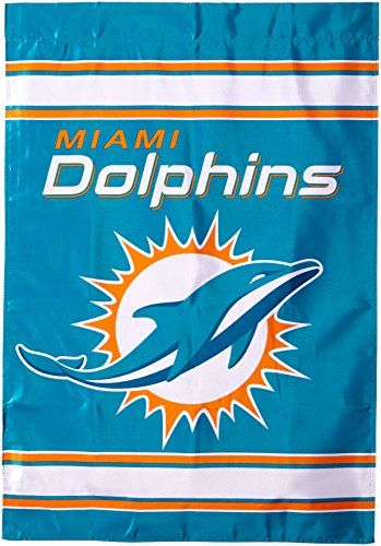 (Fremont Die NFL Miami Dolphins 2-Sided 28-by-40-Inch House Banner)