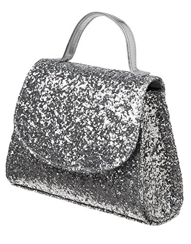 Price comparison product image Gymboree Little Girl's Glitter Top Handle Bag Accessory, silver, NS