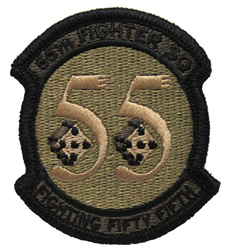 55th Fighter - 55th Fighter Squadron OCP Patch - Spice Brown