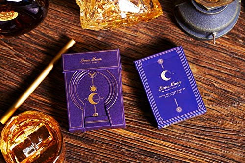 USPCC Rare Limited Playing Cards Violet Luna Moon 2 Deck Set Standard + Deluxe Edition