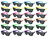 Edge I-Wear 24 Pack Neon Party Sunglasses with CPSIA certified-Lead(Pb) Content Free and UV 400 Lens 5402R-SET-24(Made in Taiwan)