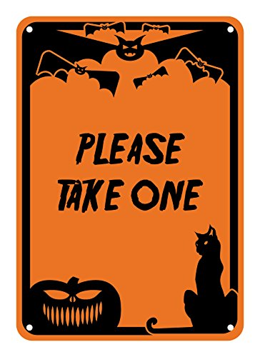 Reflective Aluminum Halloween Sign Please Take One 7