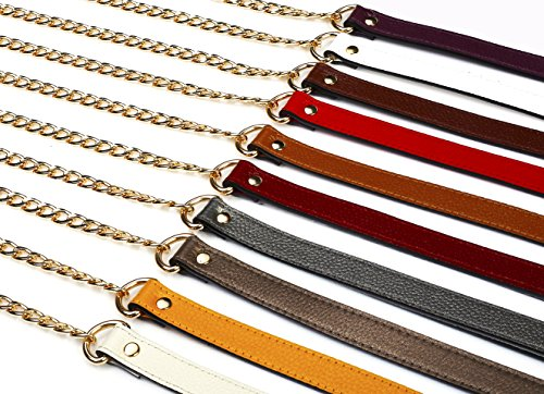 SeptCity Top Quality Full Grain Leather 47 Chain Straps Replacement Purse Accessory