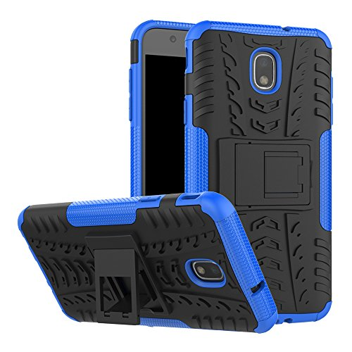 (Galaxy J7 Refine Case with Screen Protector, Galaxy J7 2018 Case, J7 V 2nd Gen Case,J7 Star Case,J7 Aero Case,J7 Top Case, SM-J737A Case Kickstand,SunRemex for Samsung Galaxy J7 2018 (J7 Blue-1))
