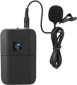 Micrófono de Solapa inalámbrico de Solapa VHF de 2 Canales y 2 ...