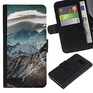 All Phone Most Case / Oferta Especial Cáscara Funda de cuero Monedero Cubierta de proteccion Caso / Wallet Case for Samsung Galaxy S6 // Nature Beautiful Forrest Green 120