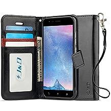 ZenFone 3 Zoom Case, J&D [RFID Blocking Wallet] [Slim Fit] Heavy Duty Protective Shock Resistant Flip Cover Wallet Case for ASUS ZenFone 3 Zoom - Black