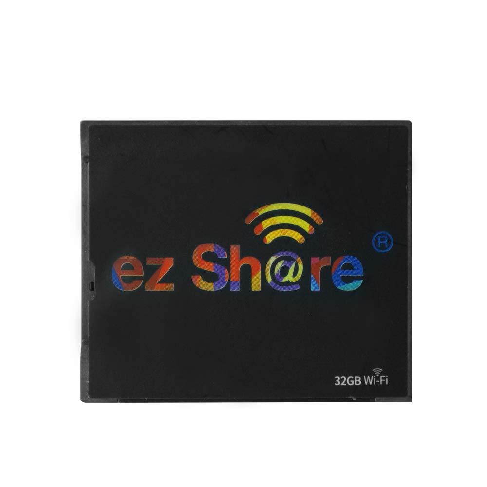 ez Share 32GB 64GB Wireless Wifi Compact Flash Class 10 CF Memory Card High Speed for Camera Canon Nikon Sony FU JIFILM series (32GB)