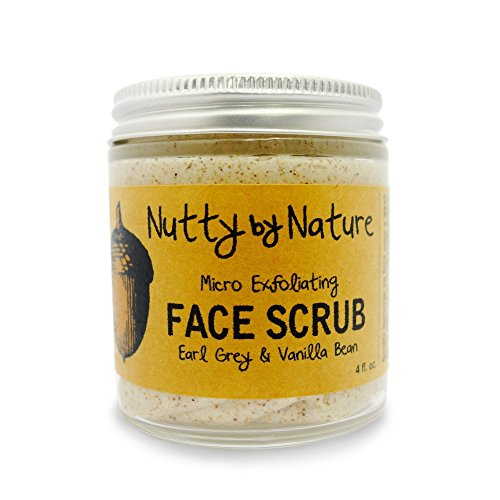 Nutty By Nature Earl Grey & Vanilla Bean Micro Exfoliating Face Scrub - 100% Natural