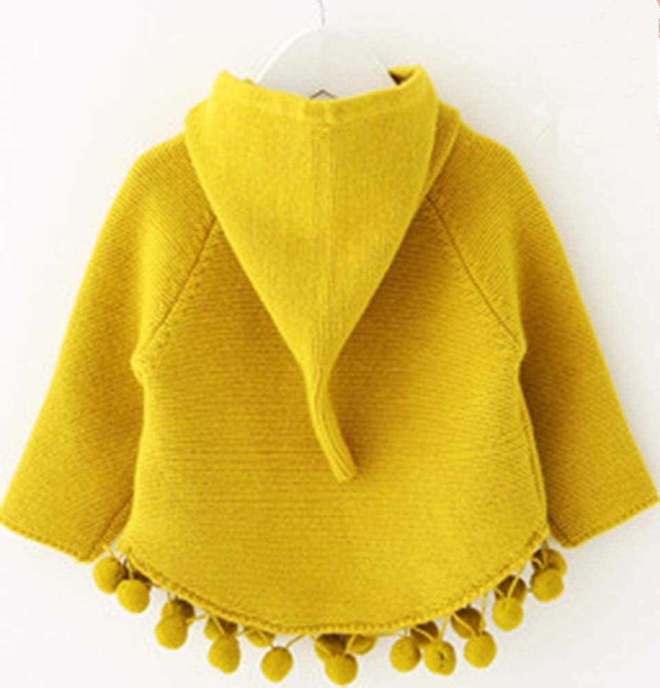 LifeChild Baby Toddler Girls 18M-5T Cloak Kids Cute Hooded Knitted Sweater Pullover