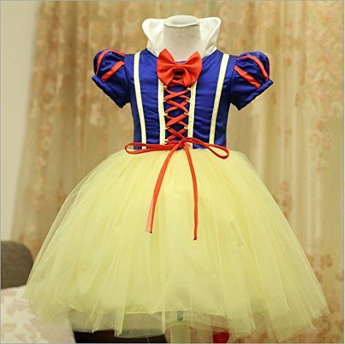 Girl's Girls Snow Princess Halloween Party Dress Clothing Carnival Cosplay Costume (120,4-5 years (recommended (Snow Princess Halloween Makeup)