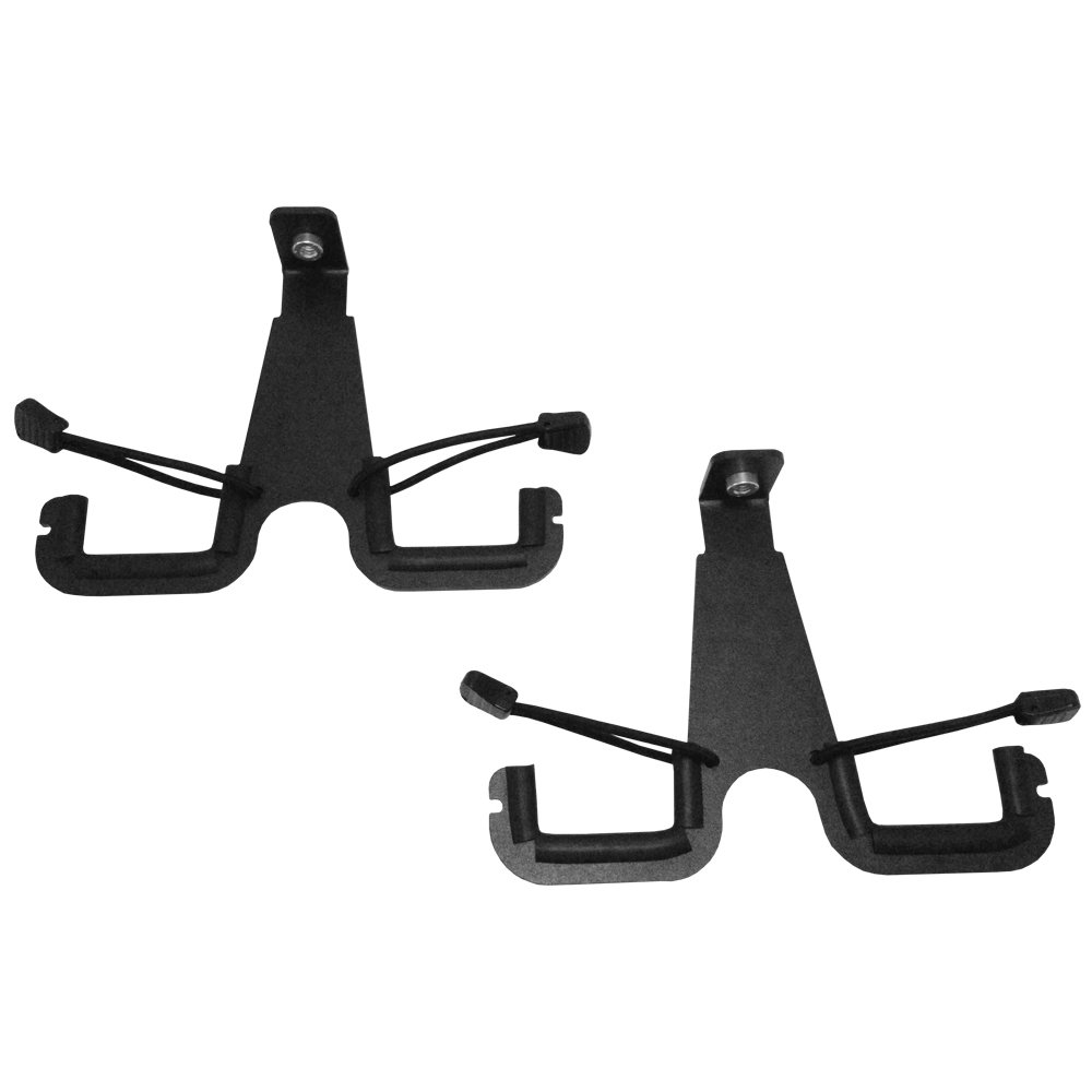 2007-2016 Jeep Wrangler JK JKU Overhead Gun Rack Accessory Bow Hangers Black Mountain