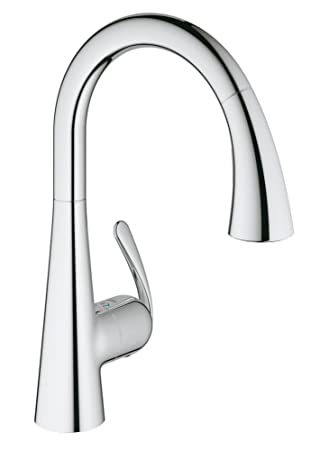 grohe - 32294001 - zedra - robinet de cuisine realsteel ... - Mitigeur Douchette Cuisine Grohe