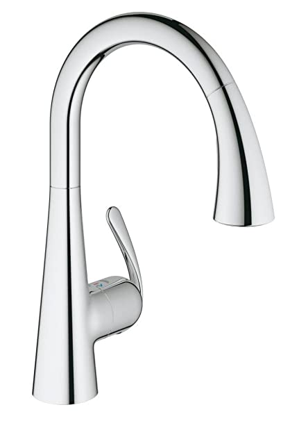 GROHE 32294001 | Zedra Kitchen Tap | Pull-Out Comfort Spray | Chrome ...