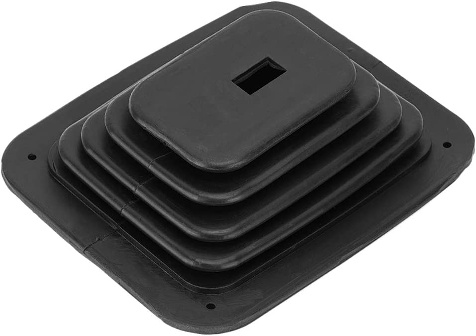 Rubber Shifter Boot Gear Panel Dust Cover 5 5//8in x 6 3//4in Manual Automatic 350 Shifter Dust Cover